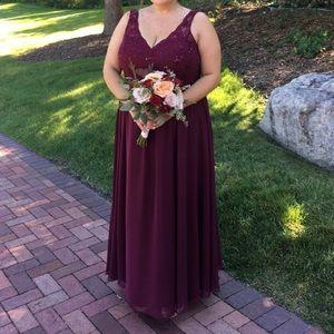 COPY - David's bridal bridesmaid dress size 20
